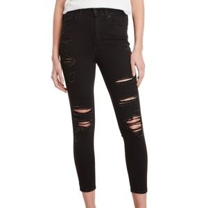 NWT Levi's Mile High Skinny Rockout Jeans Black 32